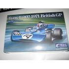 Tyrrell 002 British GP 1971 scale 1:20