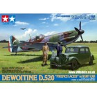 1/48 DEWOITINE D520 FRENCH ACES w/STAFF CAR # 61109 - Plastic Model Kit