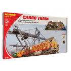 DIESEL CARGO TRAIN SET WITH LAYOUT OVAL HO