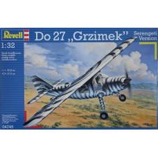 "1/32 DO27 ""GRZIMEK"" SERENGETI VERSION - Box Slightly damaged - Parts are fine"