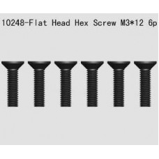 3x12mm Flat Head hex screw
