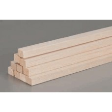 Balsa Square Spar 914mm 6.5x6.5x915 RED
