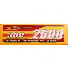 Desire Power 2600mah 3S 30C Pack