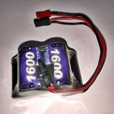 XPower 6V 1600mAh Ni-MH Receiver Pack (Hump)