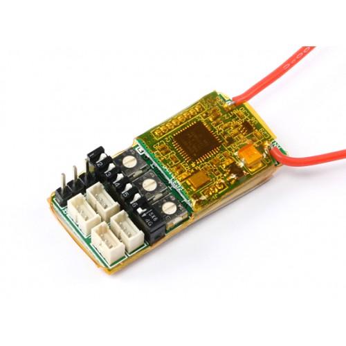 OrangeRX MicroRX3S 3-Axis Flight Stabilizer DSMX/DSM2 4CH 2 4Ghz Receiver  w/Remote Gain Control